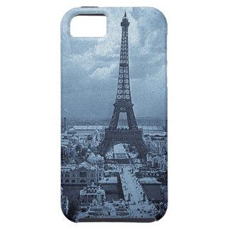 Eiffel Tower Paris France 1900 Blue Toned Tough iPhone 5 Case