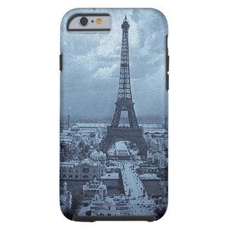Eiffel Tower Paris France 1900 Blue Toned Tough iPhone 6 Case