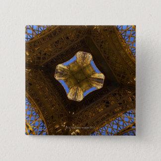 Eiffel Tower, Paris, France 2 15 Cm Square Badge