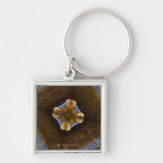 Eiffel Tower, Paris, France 2 Silver-Colored Square Key Ring