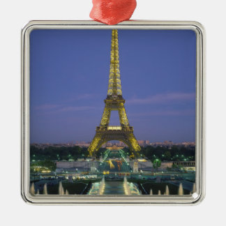 Eiffel Tower, Paris, France 2 Silver-Colored Square Decoration