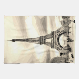 Eiffel Tower Paris France Black White Tea_towel Tea Towel
