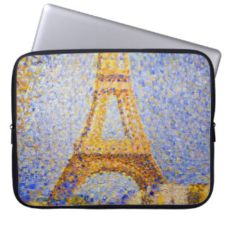 Eiffel Tower, Paris France by Seurat Laptop Sleeve