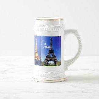 eiffel-tower-paris-france, eiffel-tower-at-nigh... beer stein