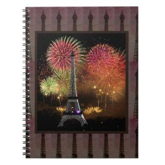 EIFFEL TOWER Paris France Landmark Photography tow Note Books