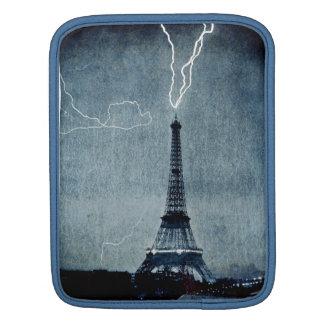 Eiffel Tower Paris France - Lightning strike 1902 iPad Sleeve