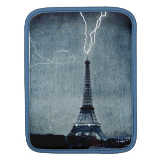 Eiffel Tower Paris France - Lightning strike 1902 iPad Sleeves