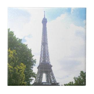 Eiffel Tower, Paris France Small Square Tile