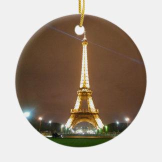 Eiffel Tower Paris France - Springtime Evening Christmas Tree Ornaments