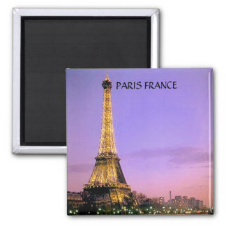 EIFFEL TOWER, PARIS FRANCE SQUARE MAGNET