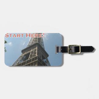 Eiffel Tower Paris France Summer 2016 French Luggage Tag