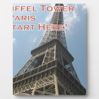 Eiffel Tower Paris France Summer 2016 French Plaque
