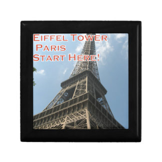 Eiffel Tower Paris France Summer 2016 French Small Square Gift Box