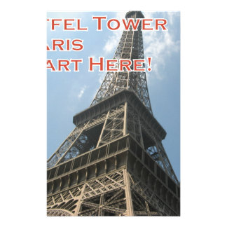 Eiffel Tower Paris France Summer 2016 French Stationery