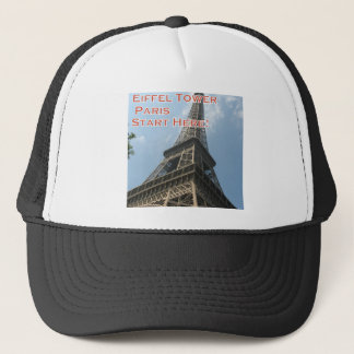Eiffel Tower Paris France Summer 2016 French Trucker Hat