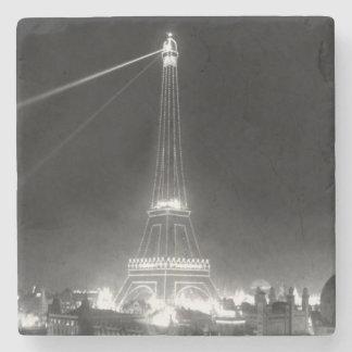 Eiffel Tower Paris France Vintage B&W Stone Coaster