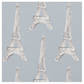 Eiffel Tower Paris French Pattern Fabric