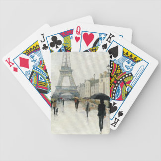 Eiffel Tower | Paris In The Rain Bicycle Playing Cards