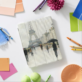 Eiffel Tower | Paris In The Rain iPad Cover