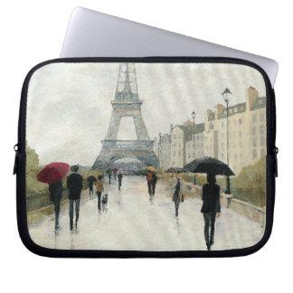 Eiffel Tower | Paris In The Rain Laptop Sleeve