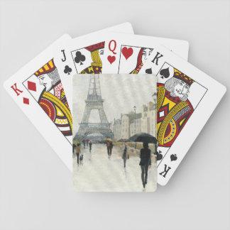 Eiffel Tower   Paris In The Rain Poker Deck