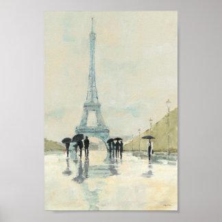 Eiffel Tower   Paris In The Rain Poster