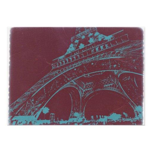 Eiffel Tower Paris Invitations