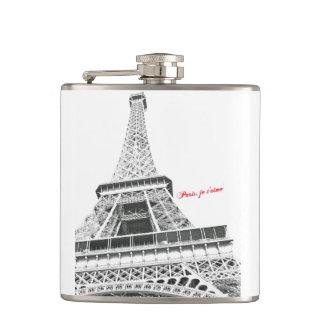 Eiffel Tower - Paris, je t'aime Flask