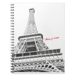Eiffel Tower - Paris, je t'aime Notebook