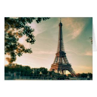 Eiffel Tower Paris Love City Romantic Travel Card