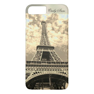 Eiffel Tower Paris Metal Name iPhone Case Vintage