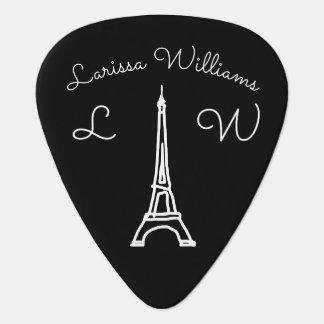 Eiffel Tower Paris personalized black Plectrum
