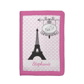 Eiffel Tower Paris Pink Wallet