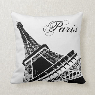 Eiffel Tower Paris Stylish Black and White pillow Cushions