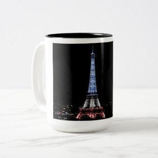 Eiffel Tower, Paris Two-Tone Coffee Mug