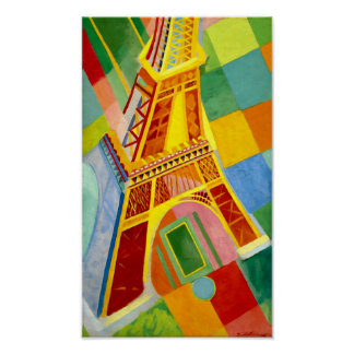 Eiffel Tower, Paris -Vintage Painting by Delaunay Poster