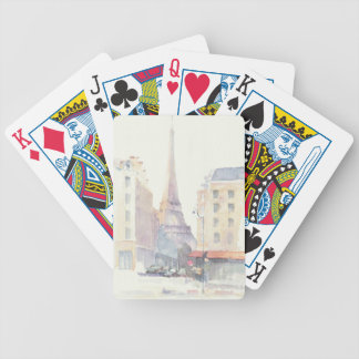 Eiffel Tower   Paris Watercolor Bicycle Playing Cards