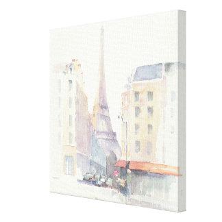 Eiffel Tower | Paris Watercolor Canvas Print