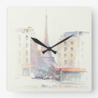 Eiffel Tower | Paris Watercolor Clock