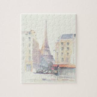 Eiffel Tower   Paris Watercolor Jigsaw Puzzle