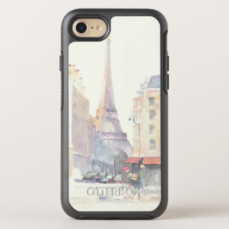 Eiffel Tower | Paris Watercolor OtterBox Symmetry iPhone 8/7 Case