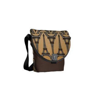 eiffel tower pattern messenger bags