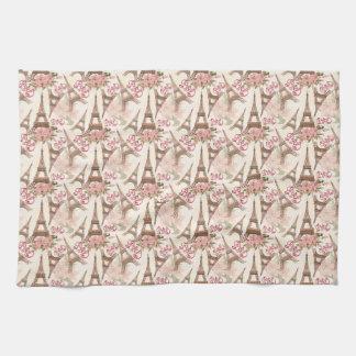 Eiffel Tower Pattern Tea Towel