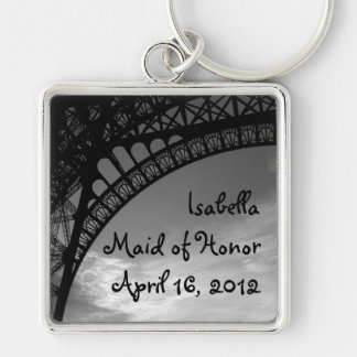 Eiffel Tower Personalized Maid of Honor Keychain