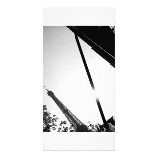 Eiffel tower photocard photo card