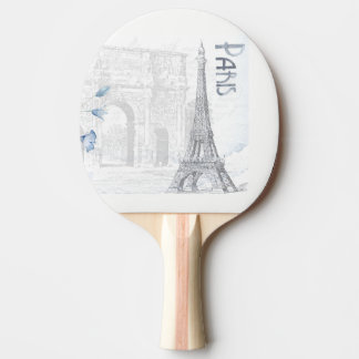eiffel tower ping pong paddle