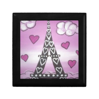 eiffel tower pink gift box