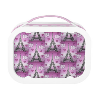 Eiffel Tower Pink Lunch Box