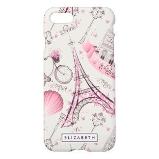 Eiffel Tower Pink Paris Zazzle iPhone 8/7 Case