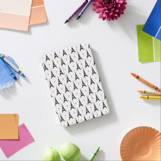 Eiffel Tower Polka Dots & Hearts Pattern iPad Mini Cover
